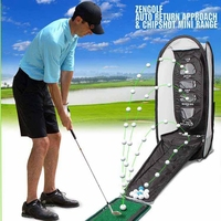 Brand ZEN Golf Swing Exercises Golf Practice Net Cage Mat Training Aid Golf Practice Mat Golf