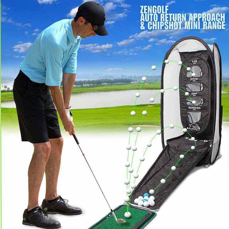 Korea ZEN Golf Swing Exercises Golf Practice Net Cage Mat Training Aid. simulation mini golf course display toy set with golf club ball flag