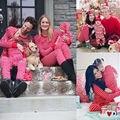 La Familia de la navidad Pijama A Juego Set Mamá Papá Del Bebé de Rayas de Manga Larga camisa de Dormir ropa de Dormir