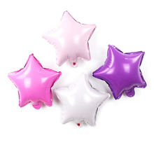 10pcs/lot 10inch Pink Purple Star Foil Balloon Birthday Party Inflatable Air Balloons Baby Shower Wedding Decoration Supplies