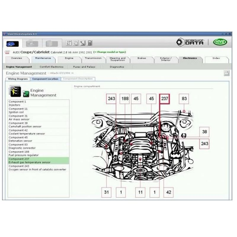 2018 New Arrival Automotive Vivid Workshop DATA auto repair software 2010 Vivid Workshop data ATI with English free shipping
