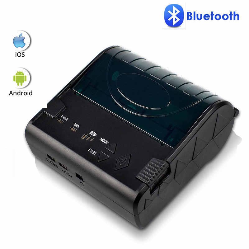 NETUM 58mm Bluetooth Máy In Hóa Đơn Nhiệt VÀ Di Động 80mm Hãng Máy Làm Máy In có Pin Sạc cho Android IOS