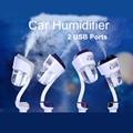 Модернизированный Автомобиль Увлажнитель Очиститель Воздуха 2 USB Аромат Эфирного Масла Диффузор Авто Ароматерапия Пара Освежитель Воздуха Mist Чайник Fogger
