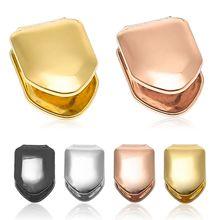 0b96984000be Caliente nuevo oro rosa oro Color negro pequeño único diente tapa sonrisa Hip  Hop dientes parrilla regalo