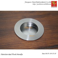 10pieces Wholesale 65mm Dia Stainless Steel Round Cabinet Handles Flush Handle Kitchen Cabinet Door Handle