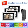 "1v4 Video Door Phone Intercom Doorbell Camera System Indoor Monitor 10"" CCTV Security Camera Door Access Control 1200TVL Camera"