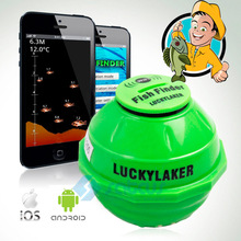 Wireless WIFI Sonar Fishing Finder 50M 130 Feet (45M) Deeper Fish Finder Lithium Battery iOS Android App Luckylaker FF916