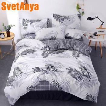 Svetanya אופנה ציפית גיליון שמיכה כיסוי סט זול סט מצעים מיטה זוגית אחת גודל