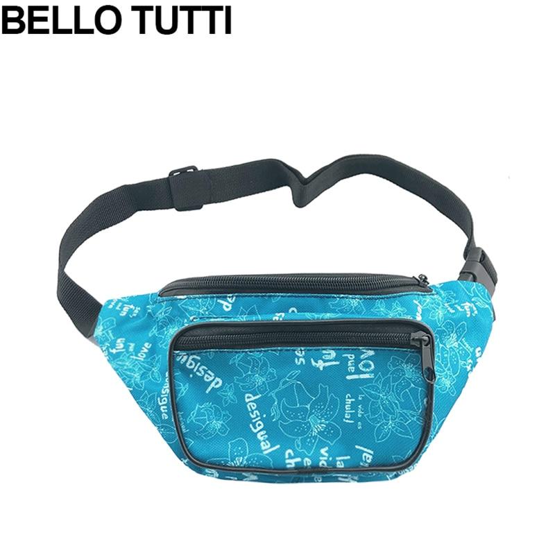 BELLO TUTTI Unisex Waist Packs Polyester Adjustable Belt Phone Pouch Bags Running Travel Waist Bag Pack Male Woman Pouch Bags