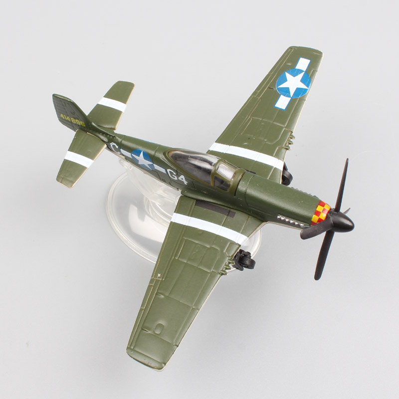 Kid's 1:100 Scale World War II NAA US Army Air Forces fighter P51D Mustang Jet plane Airplane Nooky booky G4 die cast model Toy ae 75006 1 24 world war ii us marine corps stretcher squad