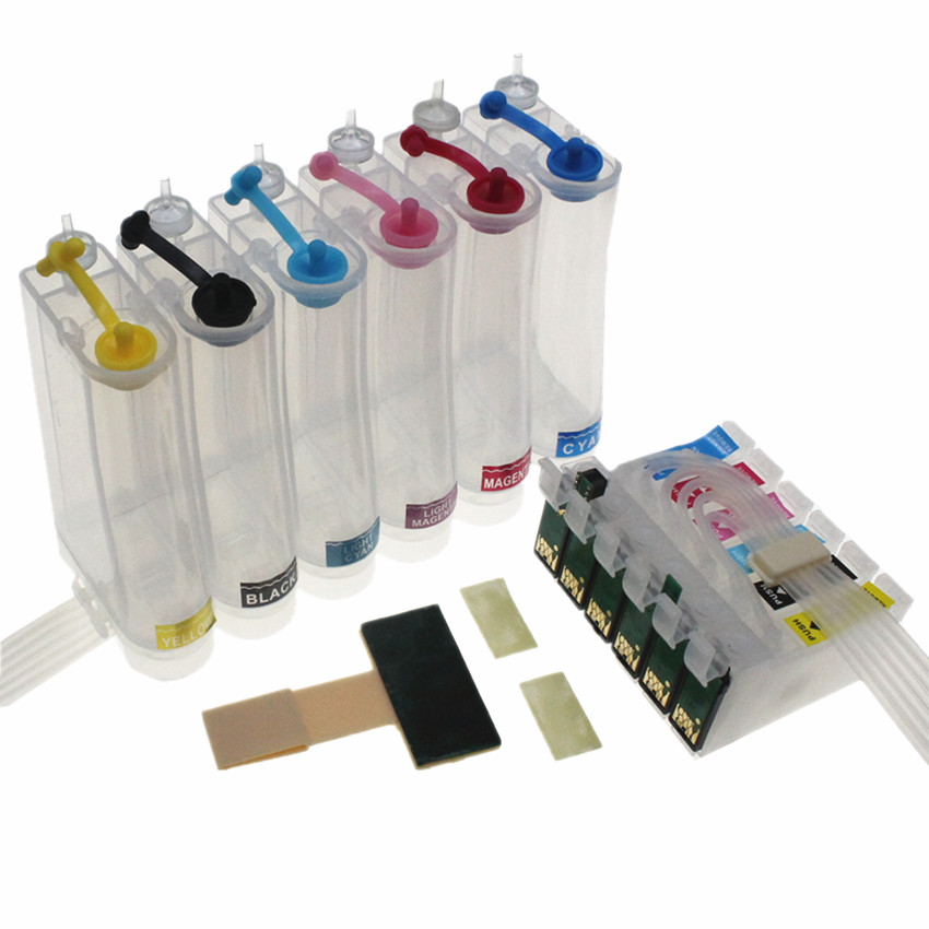 T0481 -T0486 48 Continuous Ink Supply System CISS For <font><b>Epson</b></font> STYLUS PHOTO <font><b>R200</b></font> R220 R300 R300M R320 R340 RX500 RX600 RX620 RX640 image