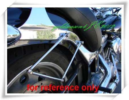 Freeshipping CHROME SADDLEBAG SUPPORT BARS FITTING  for Honda Rebel CMX 250 Shadow ACE VT400/VT750 VF motorcycle 16 5 cm saddle bag support bar mount bracket for honda shadow ace vt vt400 vt750