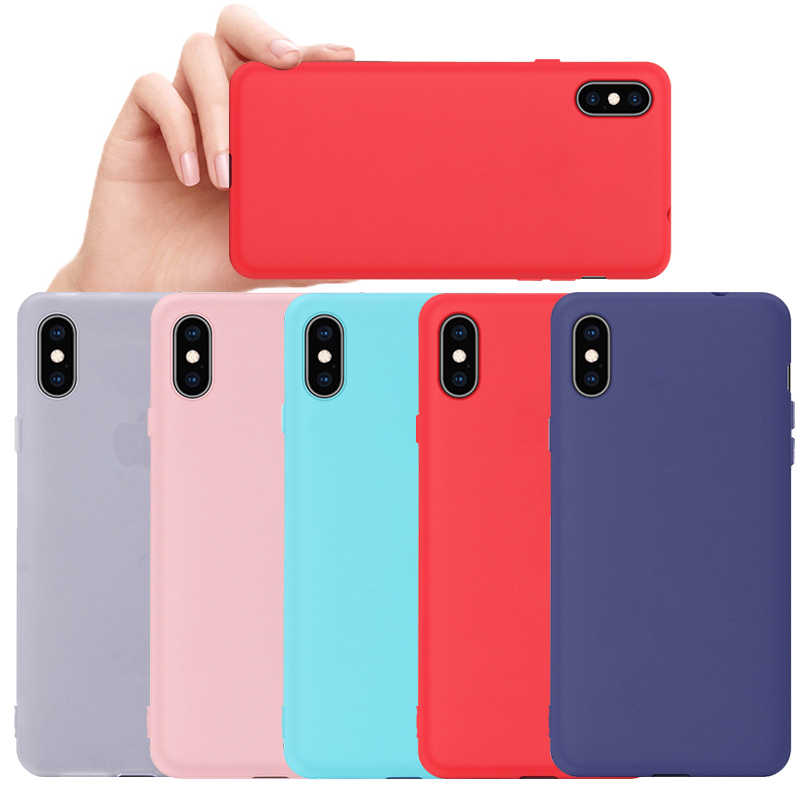 Ultra Slim Phone Case For iPhone X XR XS Max Case For iPhone 6s 6 Shockproof Cover For iPhone 7 8 6 6S Plus Soft Silicone Capa