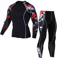 Men Long Johns Fitness Winter Quick Dry Gymming Male Spring Autumn Sporting Runs Workout Thermal Pro