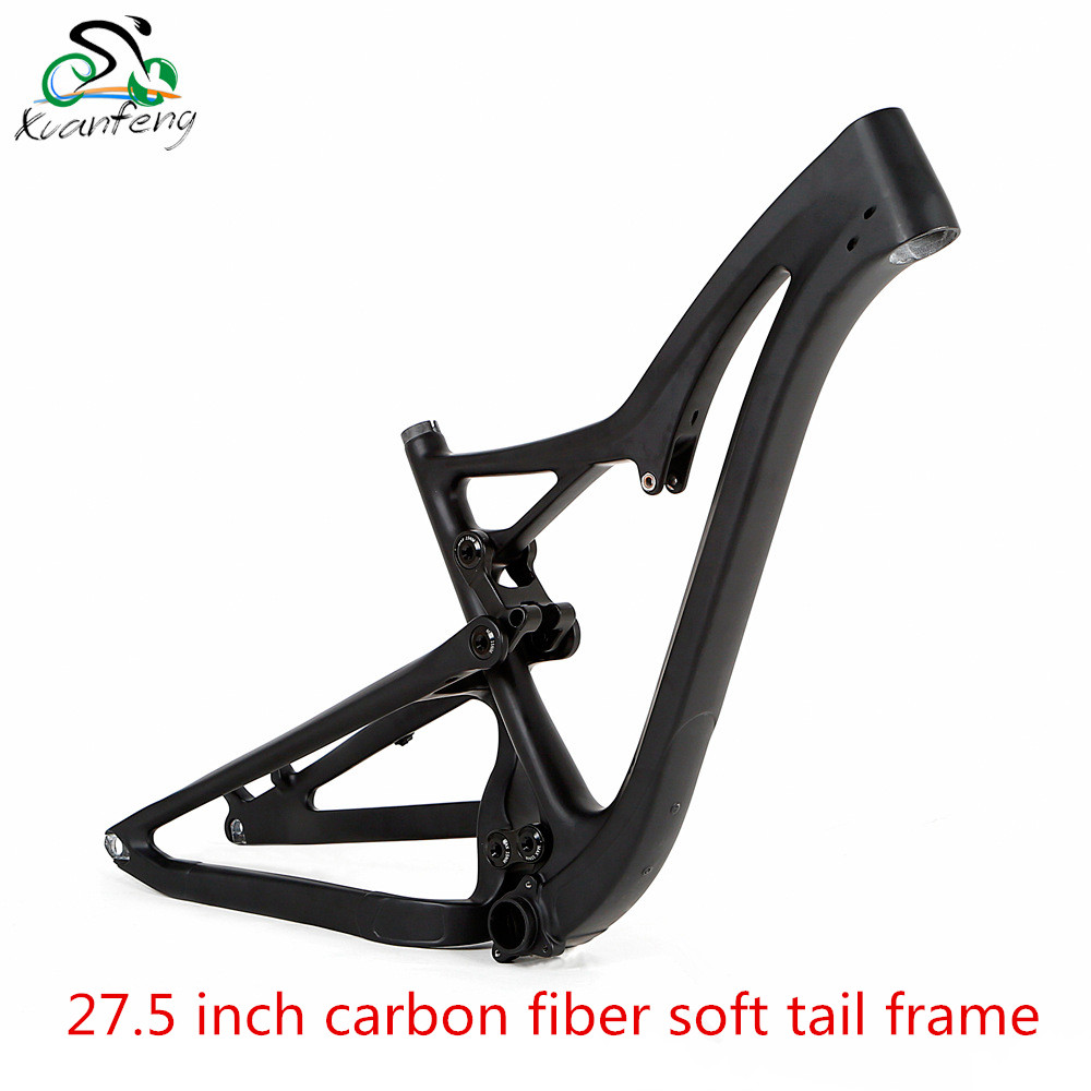 27.5 inch carbon fiber DH soft tail frame full suspension within the track mountain bike cross-country mtb frame 17 inch mtb bike raw frame 26 aluminium alloy mountain bike frame bike suspension frame bicycle frame