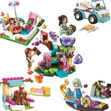 Legoinglys Series Houses Animals Emma/Mia Cat Play Pet House model Building kits Girls Princess Friends Toys for children