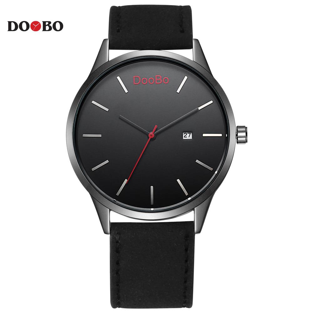Prix pour Mode casual doobo hommes de sport montres à quartz mens watch top marque de luxe en cuir montres relogio masculino montre homme
