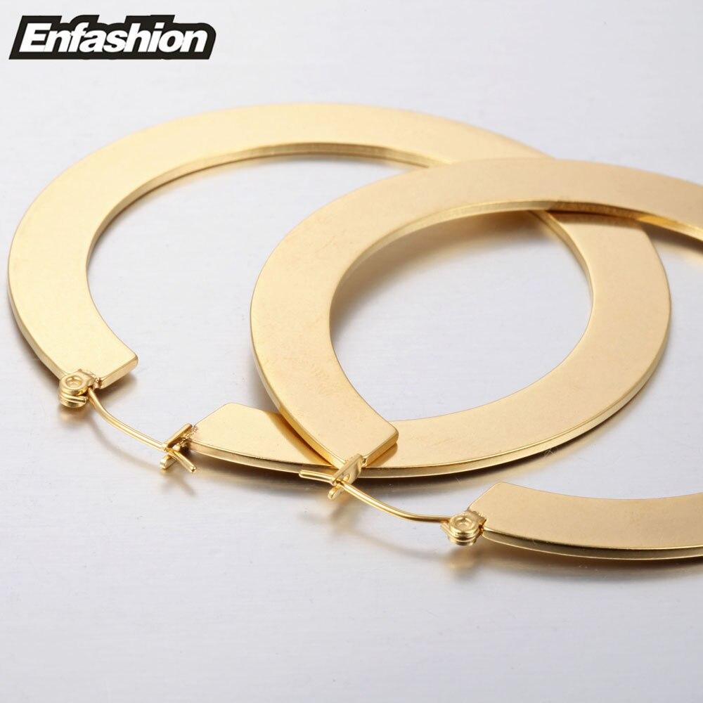 Enfashion Vintage veliki naušnica naušnice mat zlatne boje - Modni nakit - Foto 4