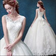 2017 новые брендовые Свадебные платья с кружевной аппликацией