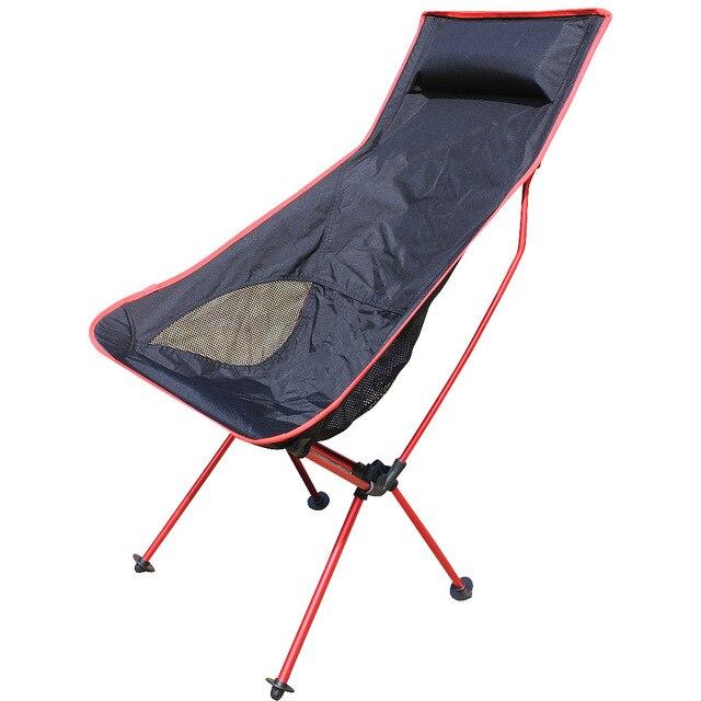 ROUGE Couleur Portable Chaise De Camping Peche Pliante Leger Emballe Tabouret Siege Pour