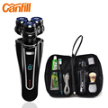 Valentine 's Day gift electric razor Rasoir CANFILL Barbeador Car USB Rechargeable Electric Shaver Razor For Men + Shaving Pouch