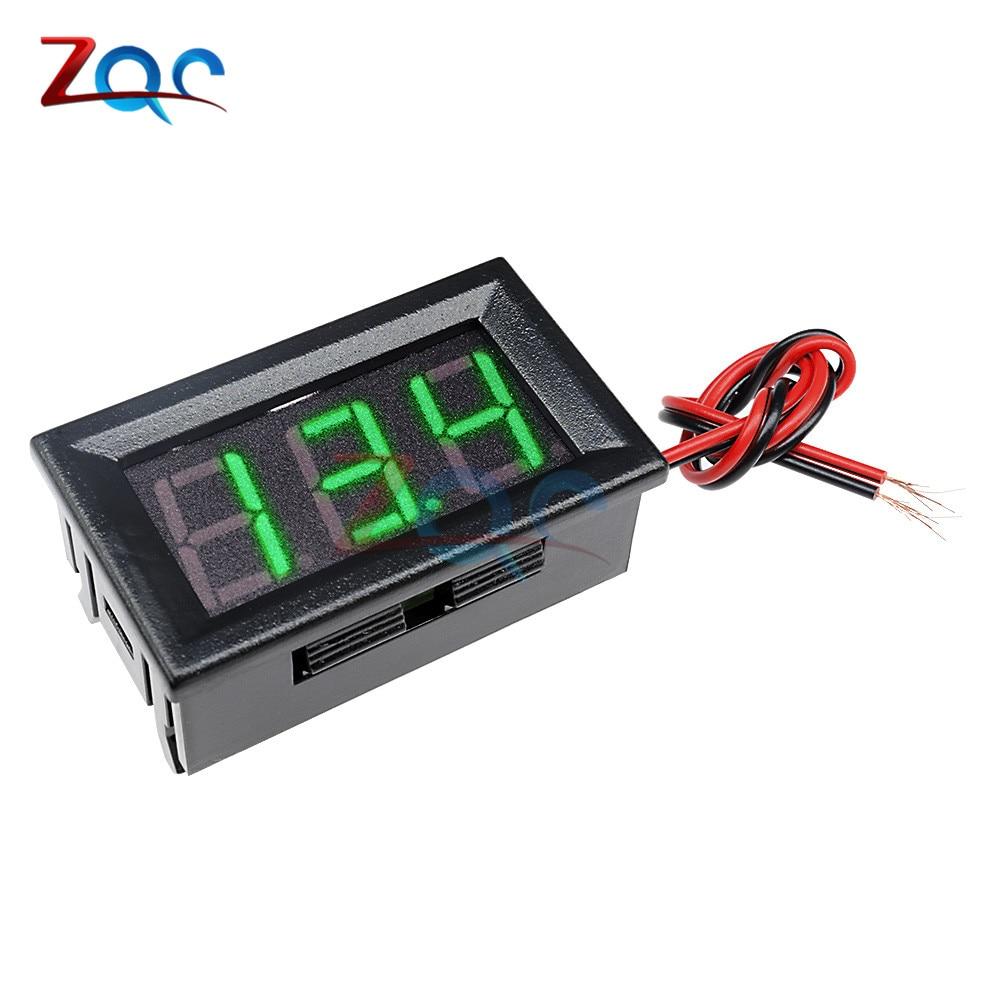 HTB1CLFuXlGw3KVjSZFwq6zQ2FXas 0.56'' Mini LED Digital Voltmeter Detector DC 0-100V 12V 24V Voltage Capacity Monitor Volt Panel Tester Meter For Motorcycle Car