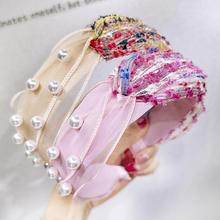 Korean Version of The New Pearl Headband Variety Personality Color Combination Head Jewelry Wholesale