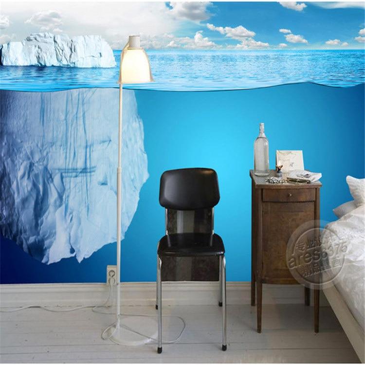 Modern 3d iceberg wallpaper seascape photo wallpaper for Room decor 3d embellishment art