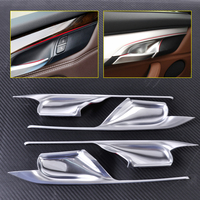 New Car Styling 4pcs Matt Chrome Plated Interior Door Handle Bowl Cover Trim Decoration Fit For