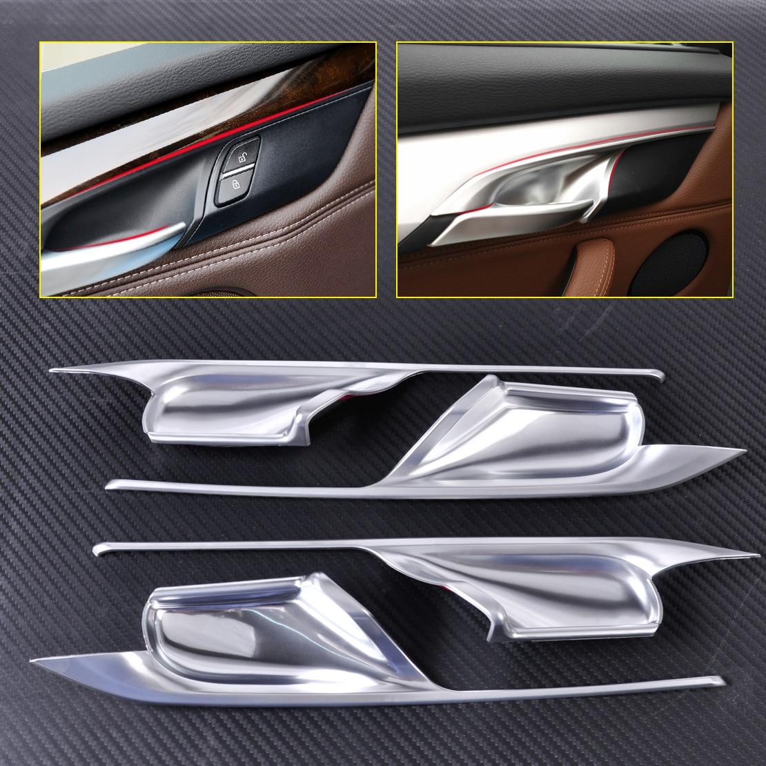 Citall car styling 4 unids mate cromado interior puerta manija bol ajuste de la cubierta decoraci n