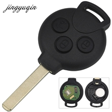 jingyuqin 3 Buttons Remote Keyless Entry for Mercedes Benz Smart 433MHz 7941 Chip Car key Fob Control