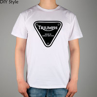 GREAT BRITAIN TRIUMPH MOTORCYCLE T Shirt Cotton Lycra Top High Quality Fashion Brand T Shirt For