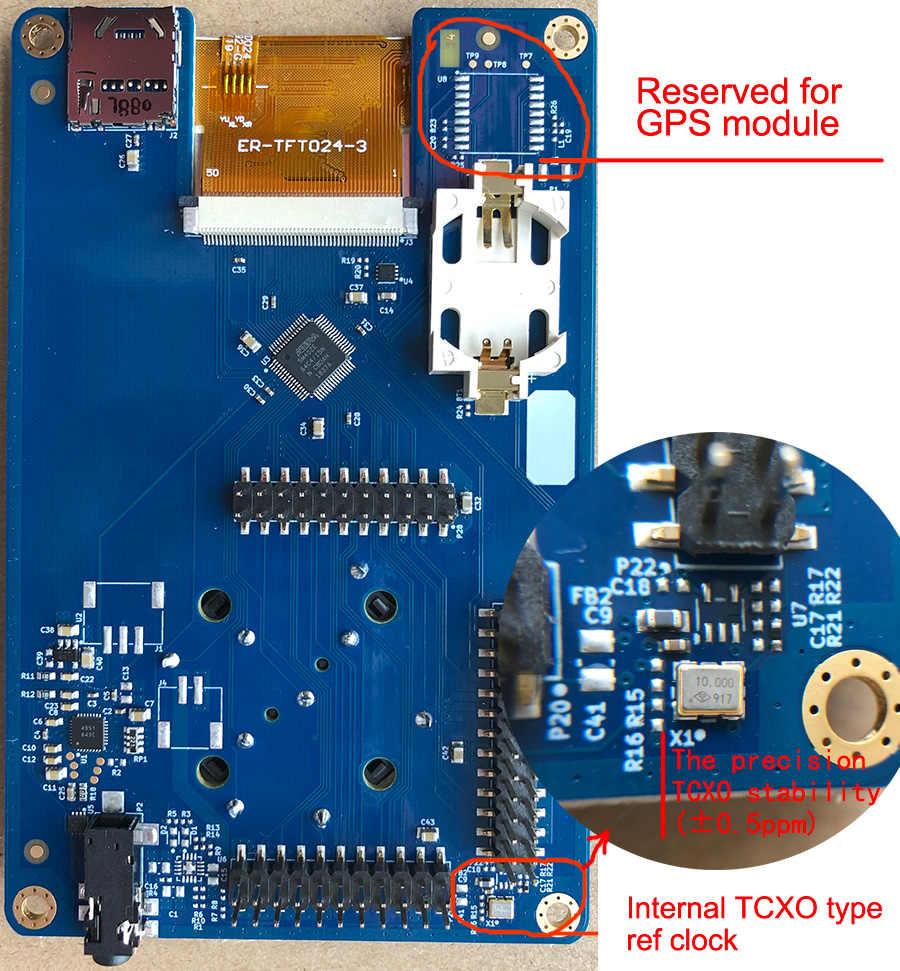 latest version PORTAPACK with 0 5ppm TCXO clock metal case FOR HACKRF ONE  SDR Software Defined radio Offline GPS simulator Havoc