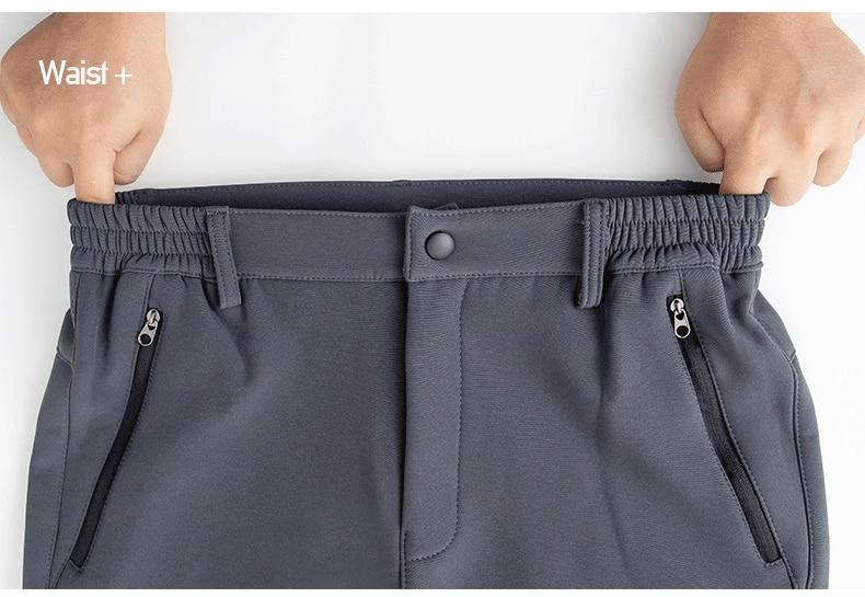 Men's Winter Pants Male Stretch Warm Thick Fleece Lining Trousers Mens Windproof Waterproof Softshell Pants For Men AM366 10