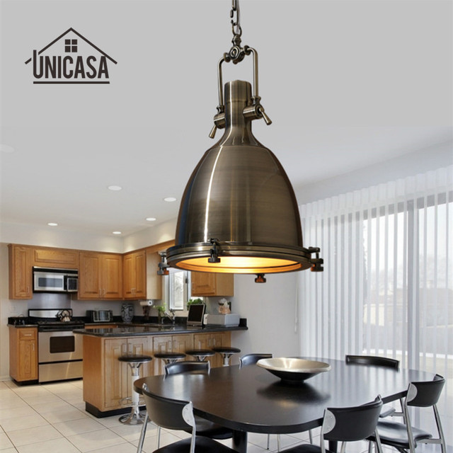 Wrought Iron Pendant Lights Vintage Industrial Lighting Bar Hotel - Led light bar for kitchen ceiling