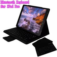 Top Quality Stand Smart PU Leather Case Cover With Detachable Bluetooth keyboard for iPad Pro 12.9 inch Tablet+Retail Box