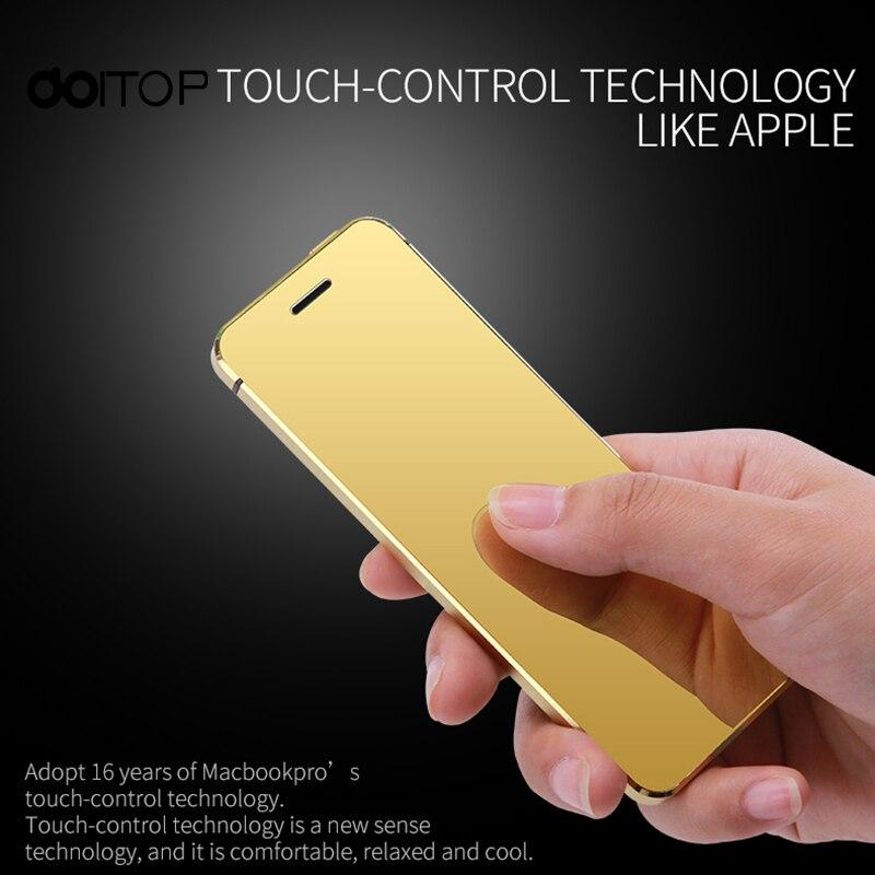DOITOP MP3 MP4 V36 téléphone intelligent ultra-mince carte de crédit téléphone portable métal corps Bluetooth numéroteur FM double carte SIM Mini téléphone portable A3