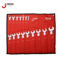 Jetech universal car wrench set kit double end open jaw spanner set sizes for machanic automative bike motocycle tool Cr.V steel