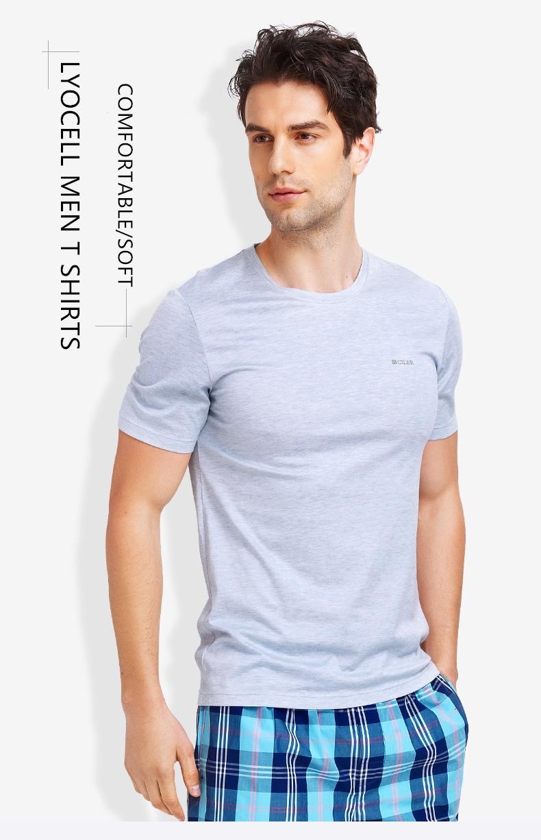 Ciler brand Clothing Men Lyocell t shirt Solid Slim men s round neck short  Sleeve t-shirt Casual Male Fashion T-shirt L-3XL 701a4ae3e