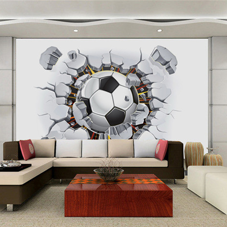 Custom Size Photo 3D football basketball wallpaper Restaurant Bar ...