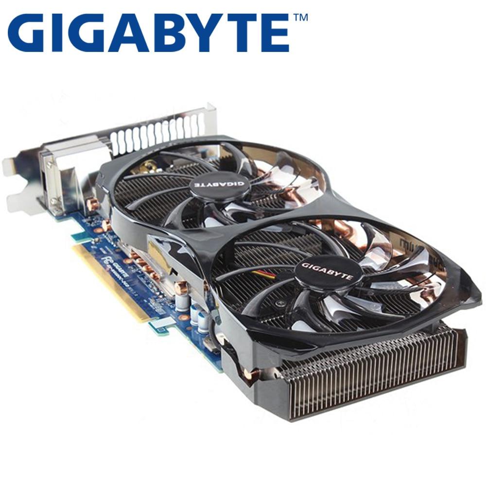 Видеокарта GIGABYTE GTX660 2 Гб 192 бит GDDR5, графические карты для VIDIA Geforce GTX 660 б/у VGA-карты, мощнее чем GTX 750 Ti-3