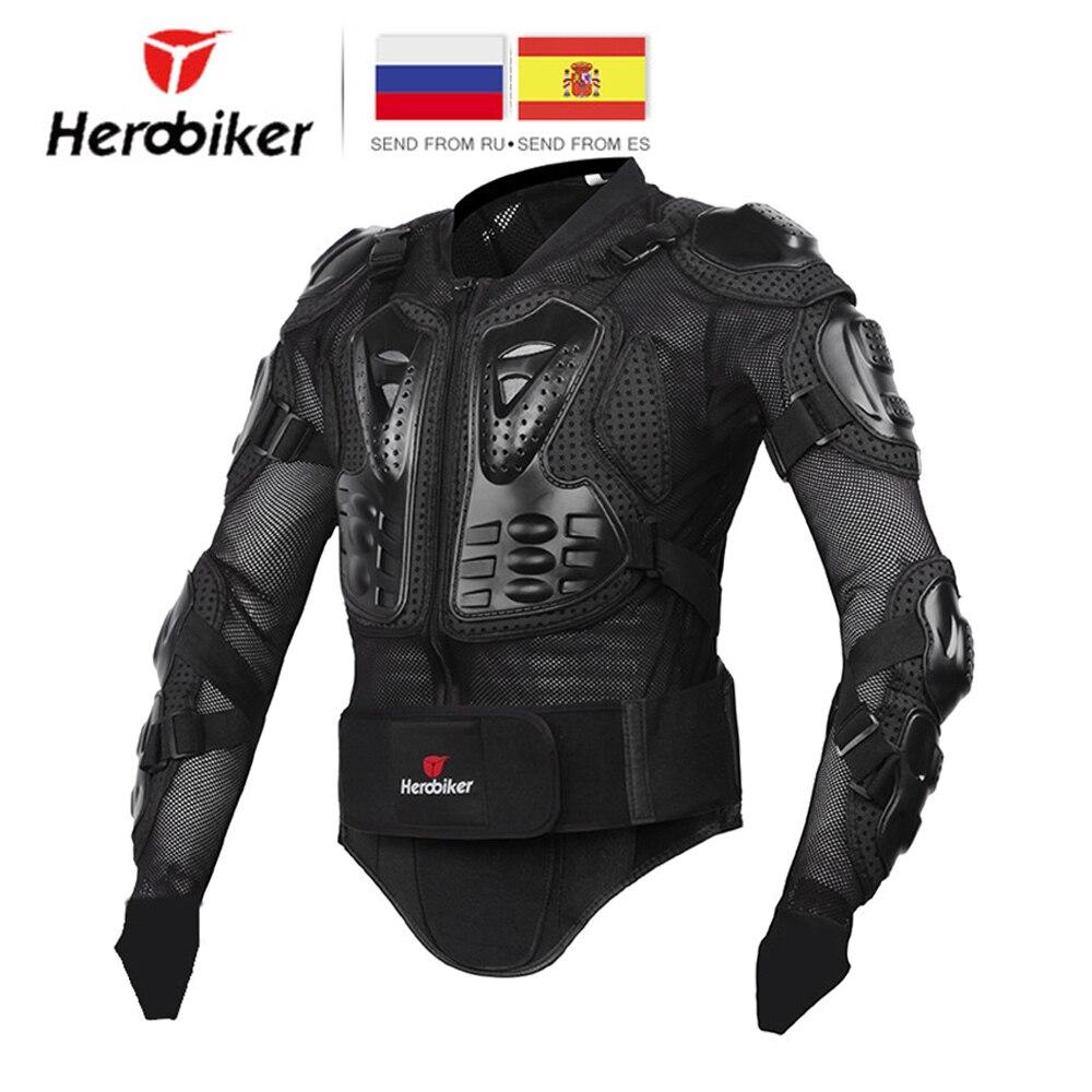 HEROBIKER Uomini Giacca Moto Full Body Armatura Del Motociclo Corse di Motocross di Protezione Ingranaggi di Protezione Del Motociclo di Formato S-5XL