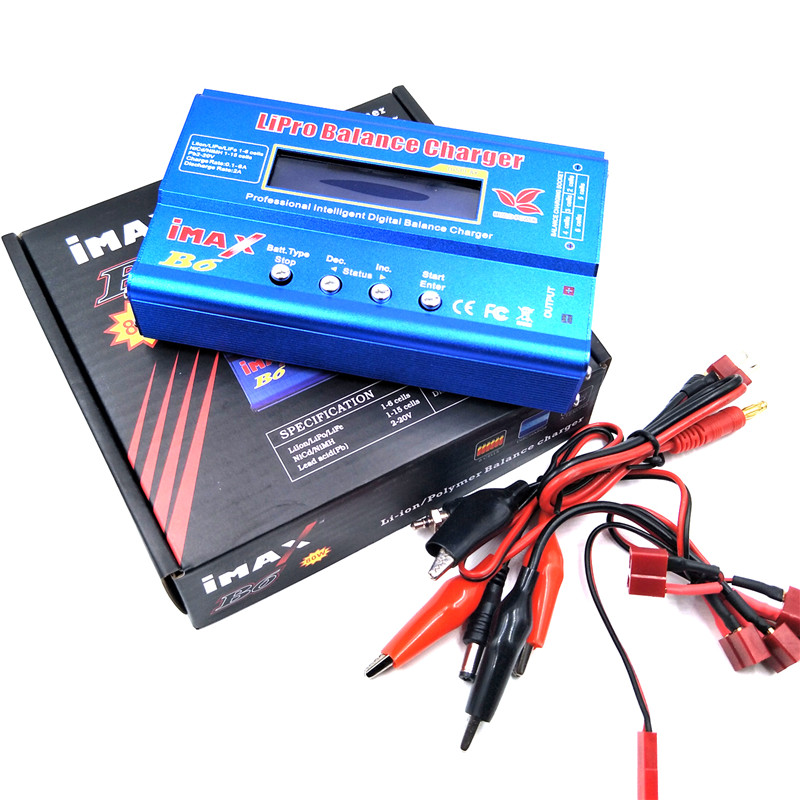 Battery Lipo Balance Charger IMAX B6 charger Lipo Digital Balance Charger 12v 6A Power Adapter Charging Cables IMAX B6 original original ev peak d1 rc lipo battery charging for yuneec typhoon q500 intelligent balance battery charger