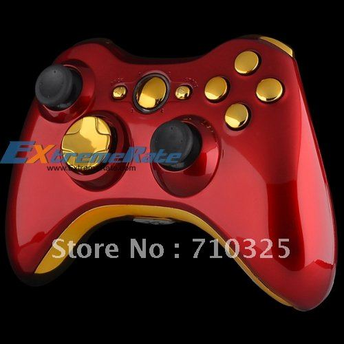 Custom Glossy Red For Xbox 360 Controller Shell Housing ... Xbox 360 Controller Designs Gold