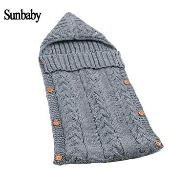 Sunbaby Baby sleeping bag warm wool crochet knitted newbron Infant Sleeping bag baby swaddling blanket baby blanket Y930