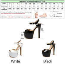 ANNYMOLI Women Shoes Extreme High Heels Platform Ladies Sandals 2018 Women Sandals Summer Size 33-46 Bridal Shoes Black Sandals