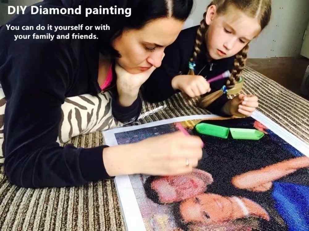 Diamante bordado 5d diy pintura diamante dos desenhos animados elsa & anna ponto cruz quadrado diamante mosaico casa pinturas hobbies artesanato
