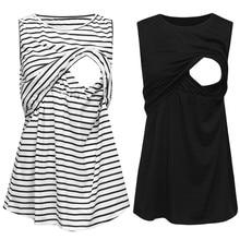 Vetement femme, женская одежда для беременных, платье без рукавов для мам и кормящих детей, жилет для беременных, топы для грудного вскармливания
