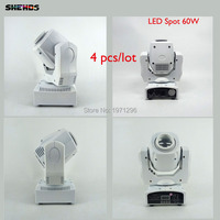 4 Pcs Hot Good Quality 60W LED Spot Light DMX512 Master Slave Auto Run Sound Controller