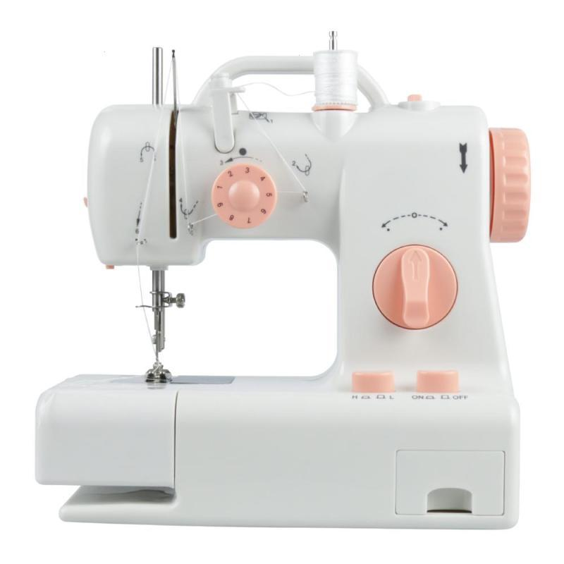 LED Sewing Machine Electric Household Stitching Machinery DIY Clothes Fabrics Household Sewing Machine EU UK US Plug Gift 15